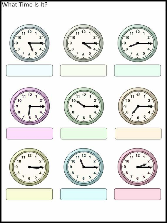 Printable Exercises For Kids What Time Is It 28