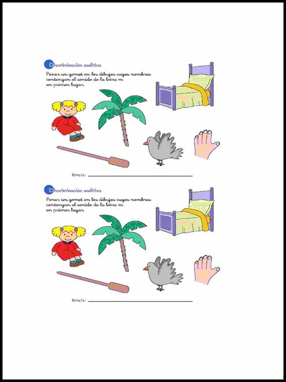 Auditory Visual Differentiation To Learn Spanish Worksheets 25