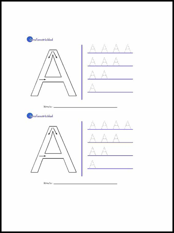 Printable Worksheets For Kids Alphabet To Learn Spanish 2