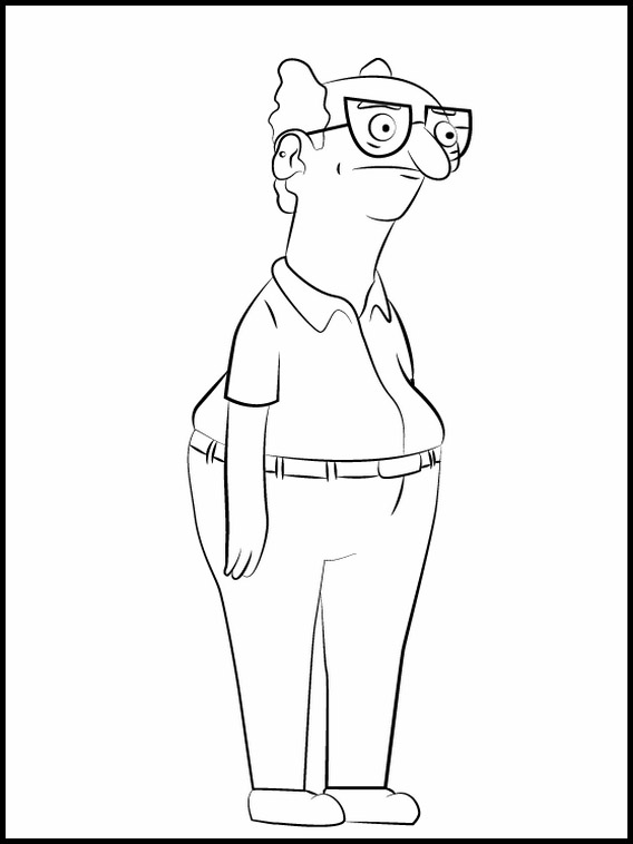 bob's burgers coloring pages 1