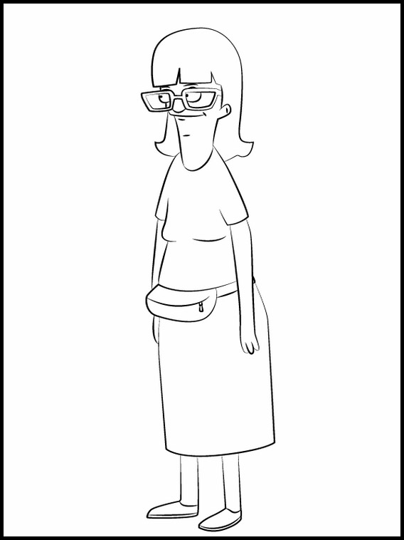bob's burgers printable coloring book 4