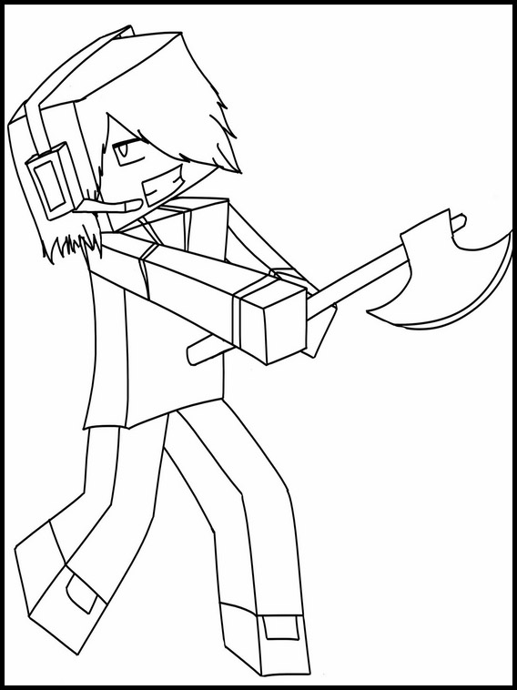 minecraft printable colouring sheets # 51