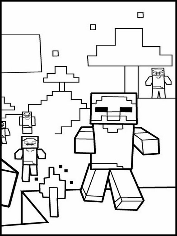 minecraft printables coloring pages # 44