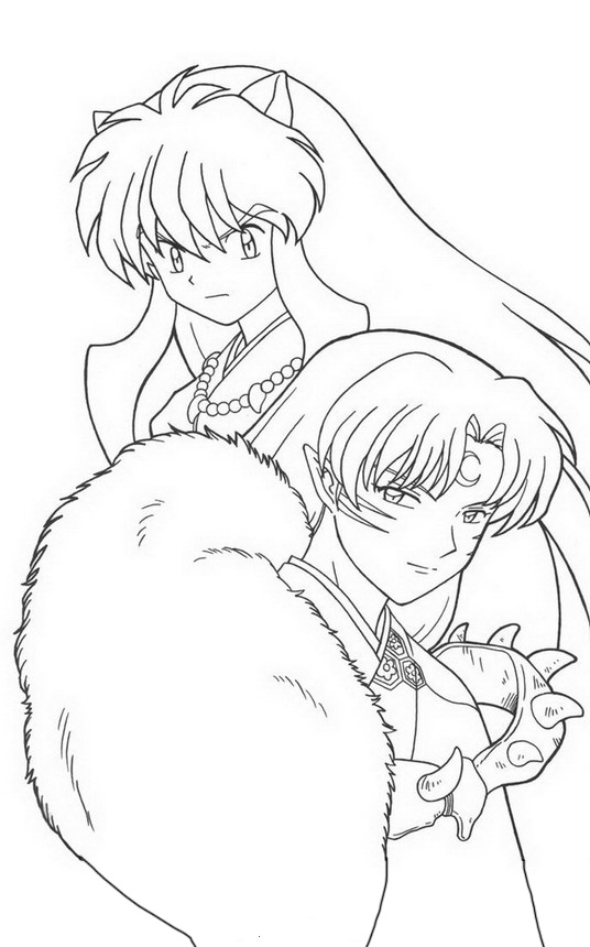 inuyasha coloring pages 9