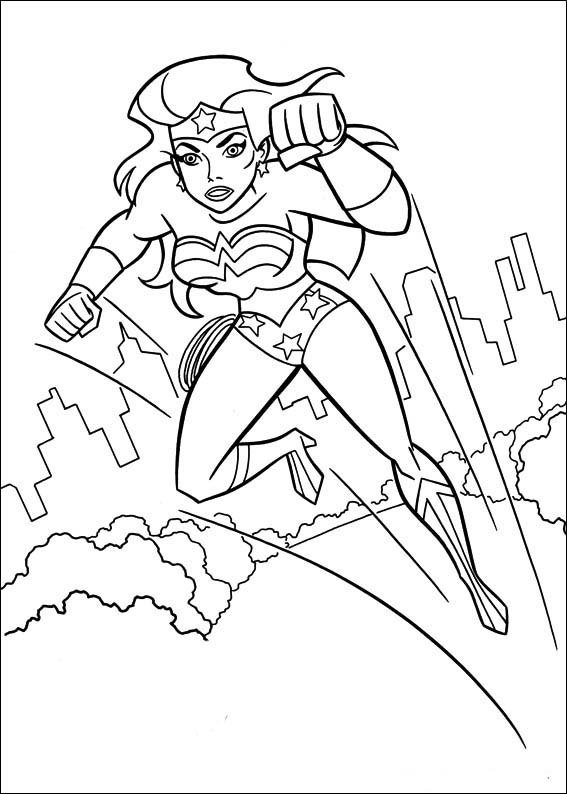 Wonder Woman Coloring Pages 41