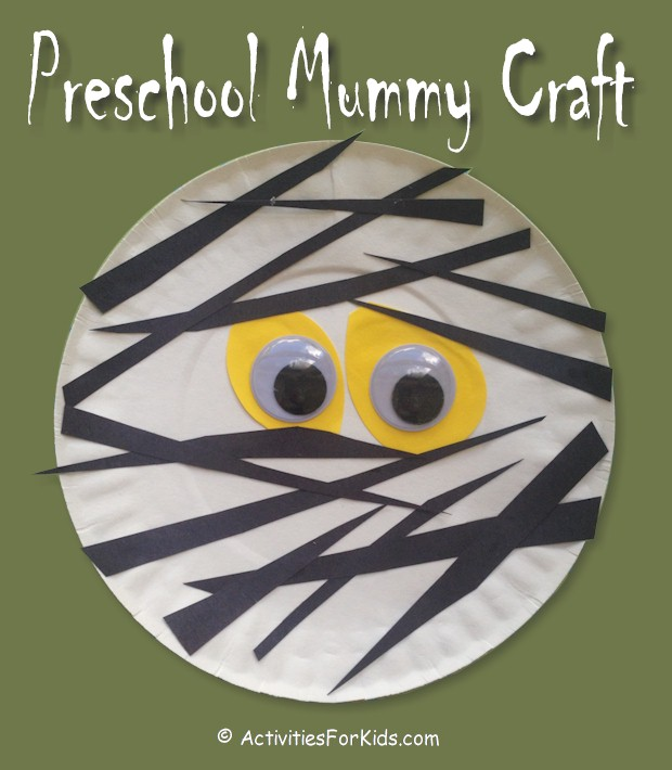 Paper Plate Mummy Craft, by Activities for Kids