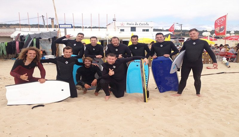 Body Board Lesson on Praia de Carcavelos Beach