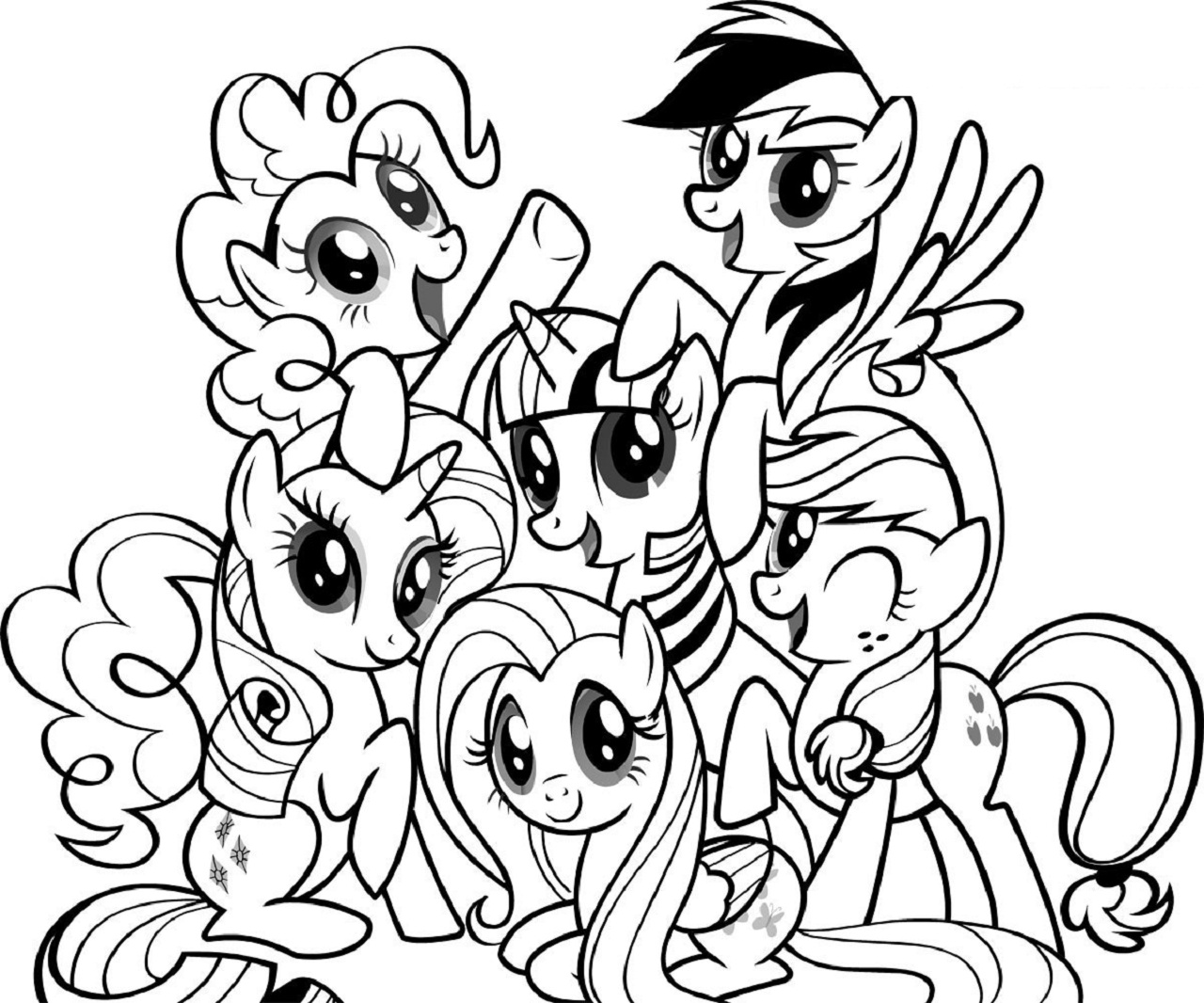 My Little Pony Coloring Pages Printable Activity Shelter