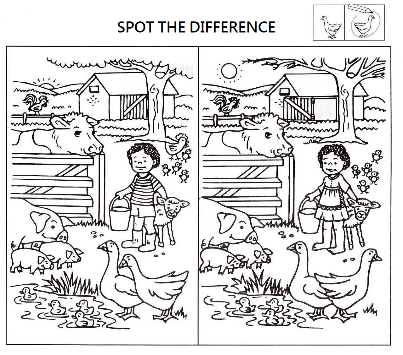 Search Results For Spot The Difference Worksheets