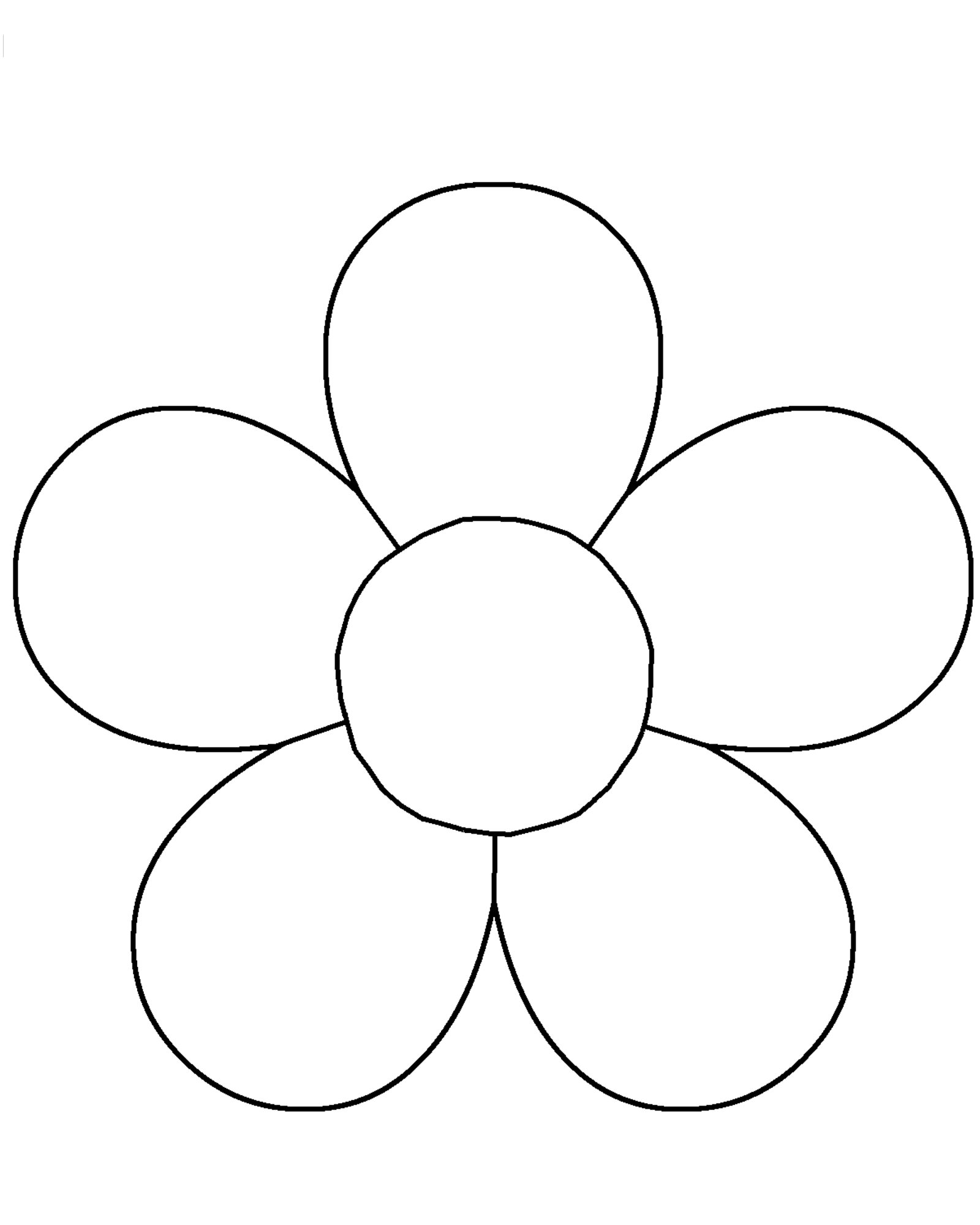 Flower Template For Children S Activities