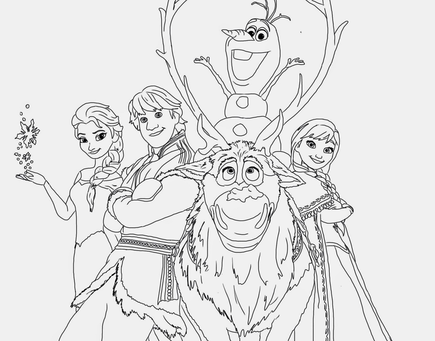 Frozen Worksheets Coloring Printable