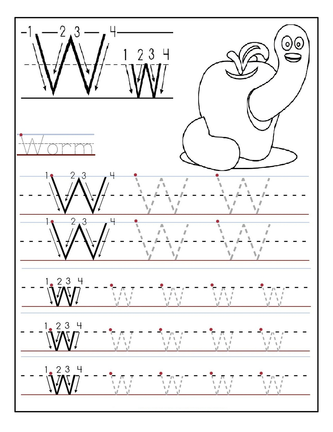 Writing Alphabets For Preschoolers