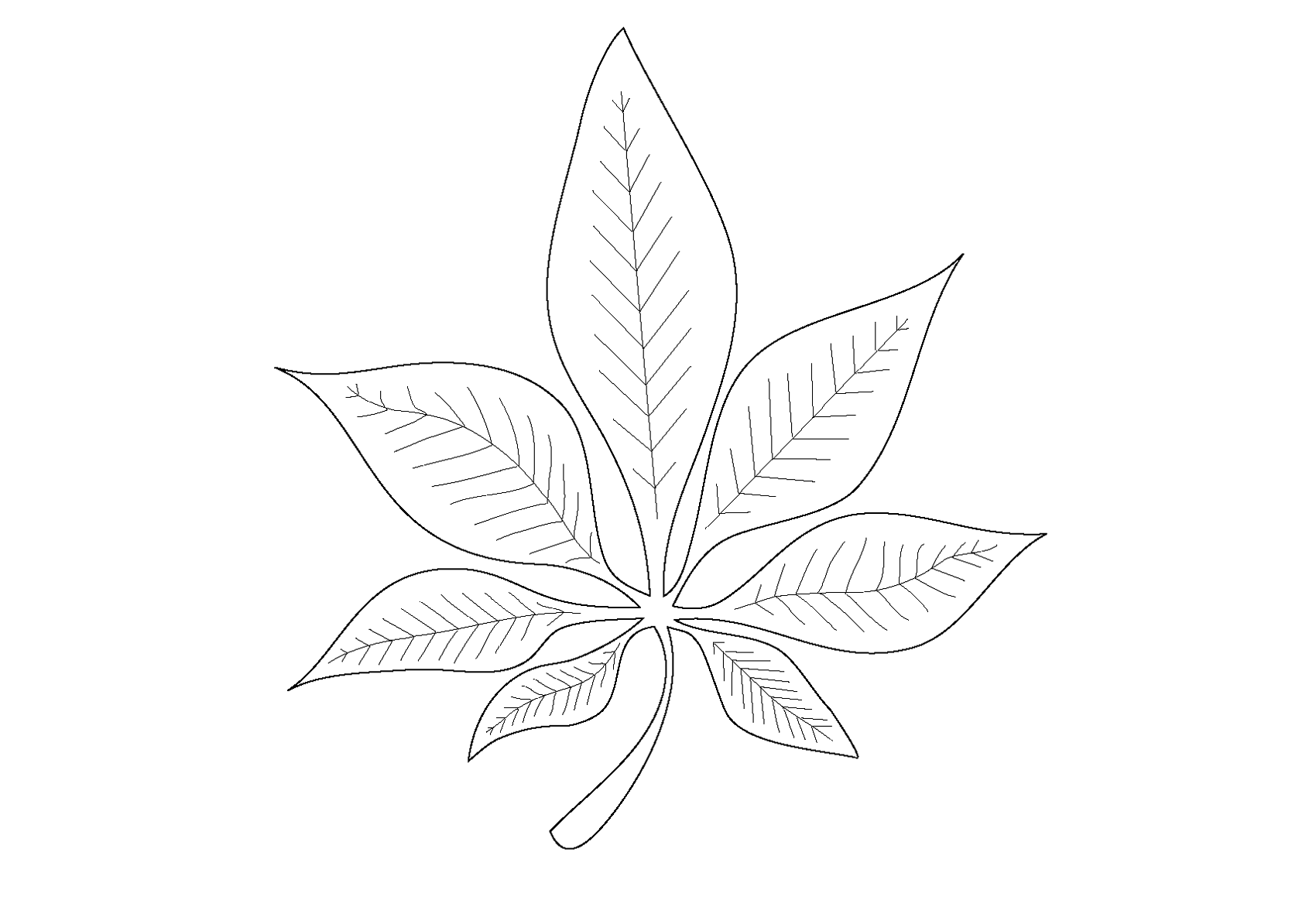 Preschool Leaf Pages Coloring Pages