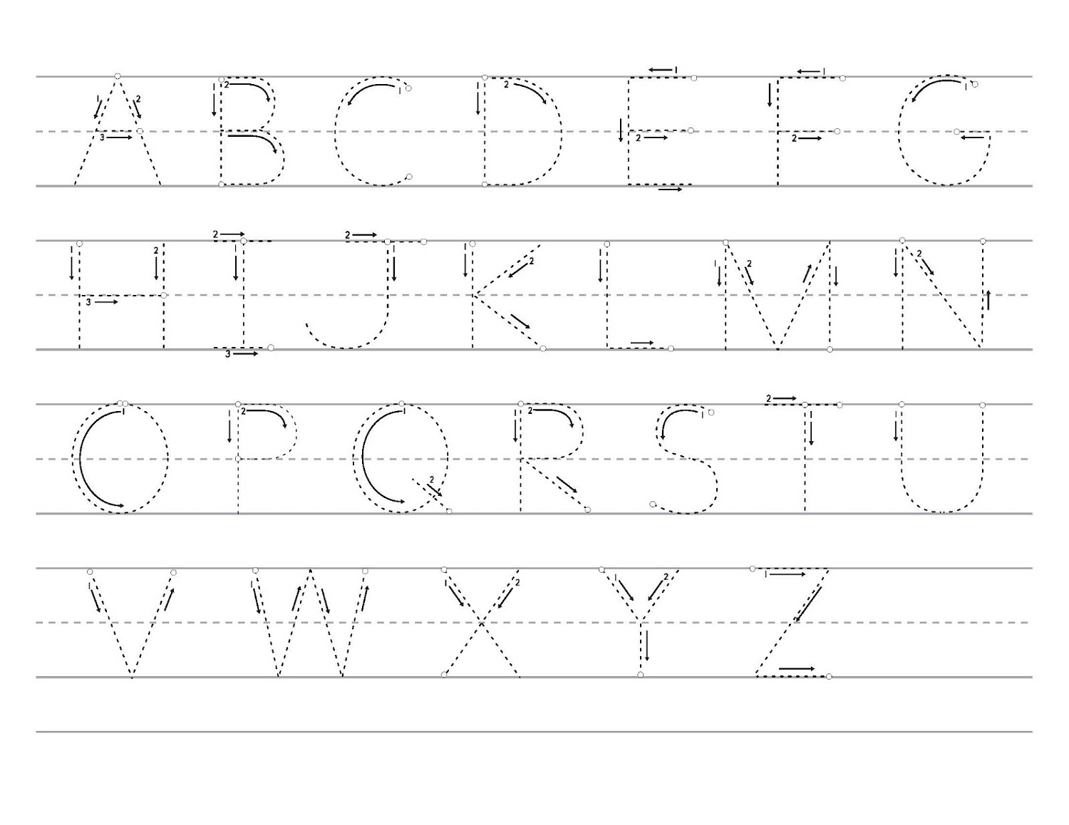 Letter Tracing Sheets Printable