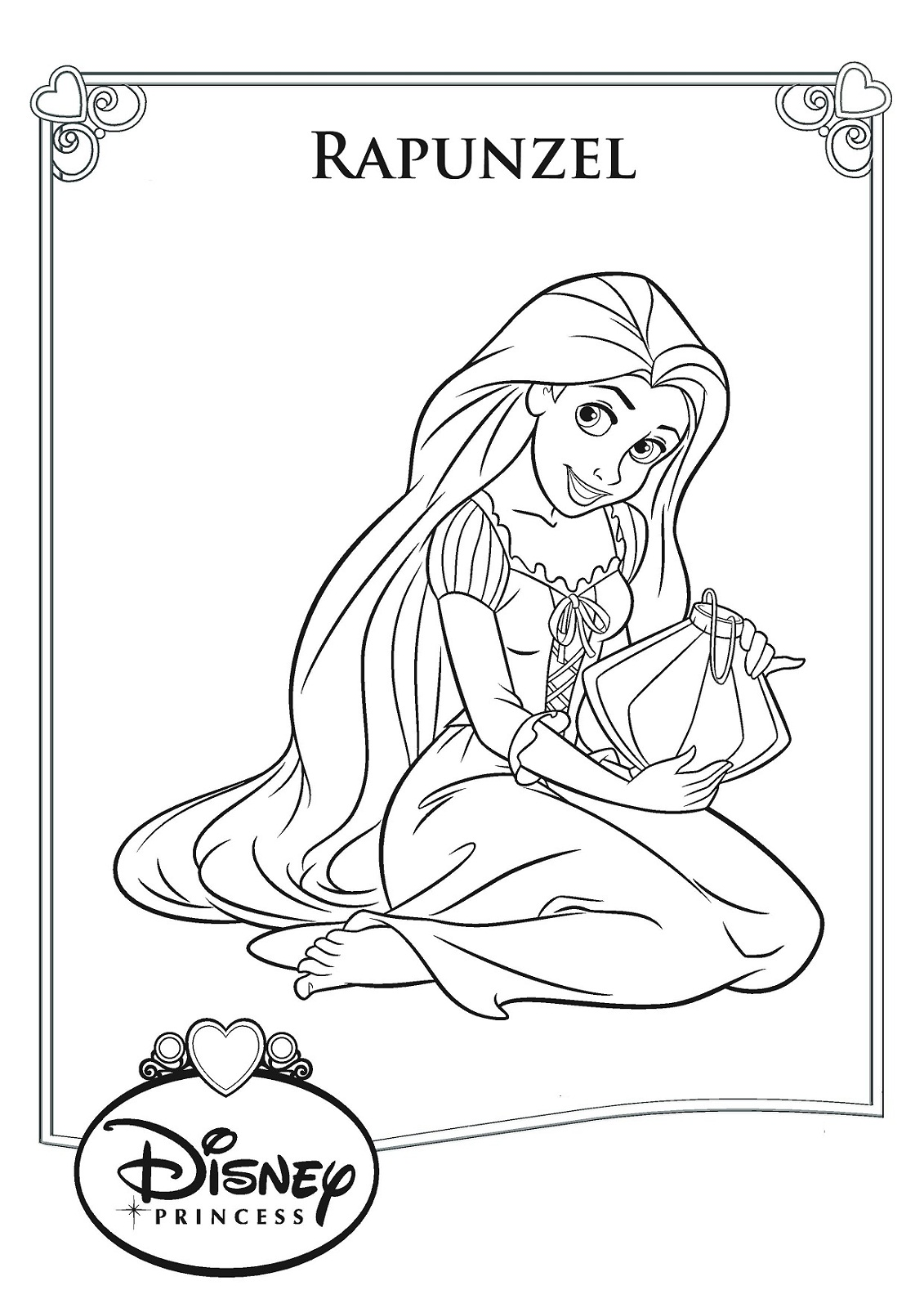 Rapunzel Color Pages To Print