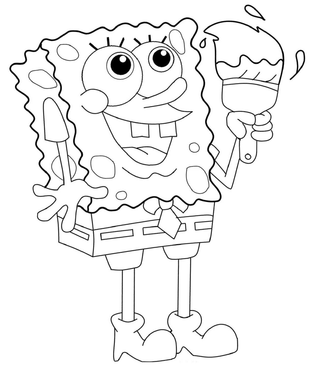 Spongebob Printable Coloring Worksheet