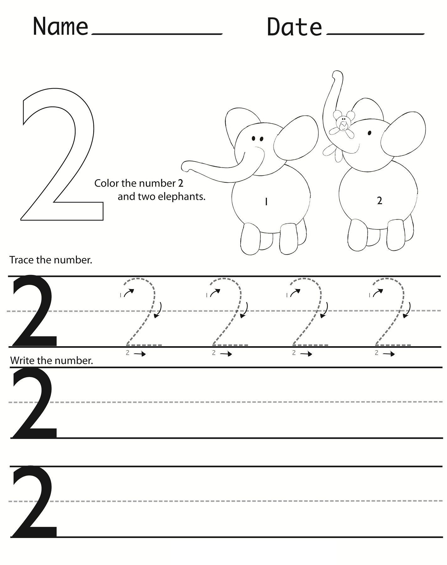 Kindergarten Number Writing Worksheet For Halloween
