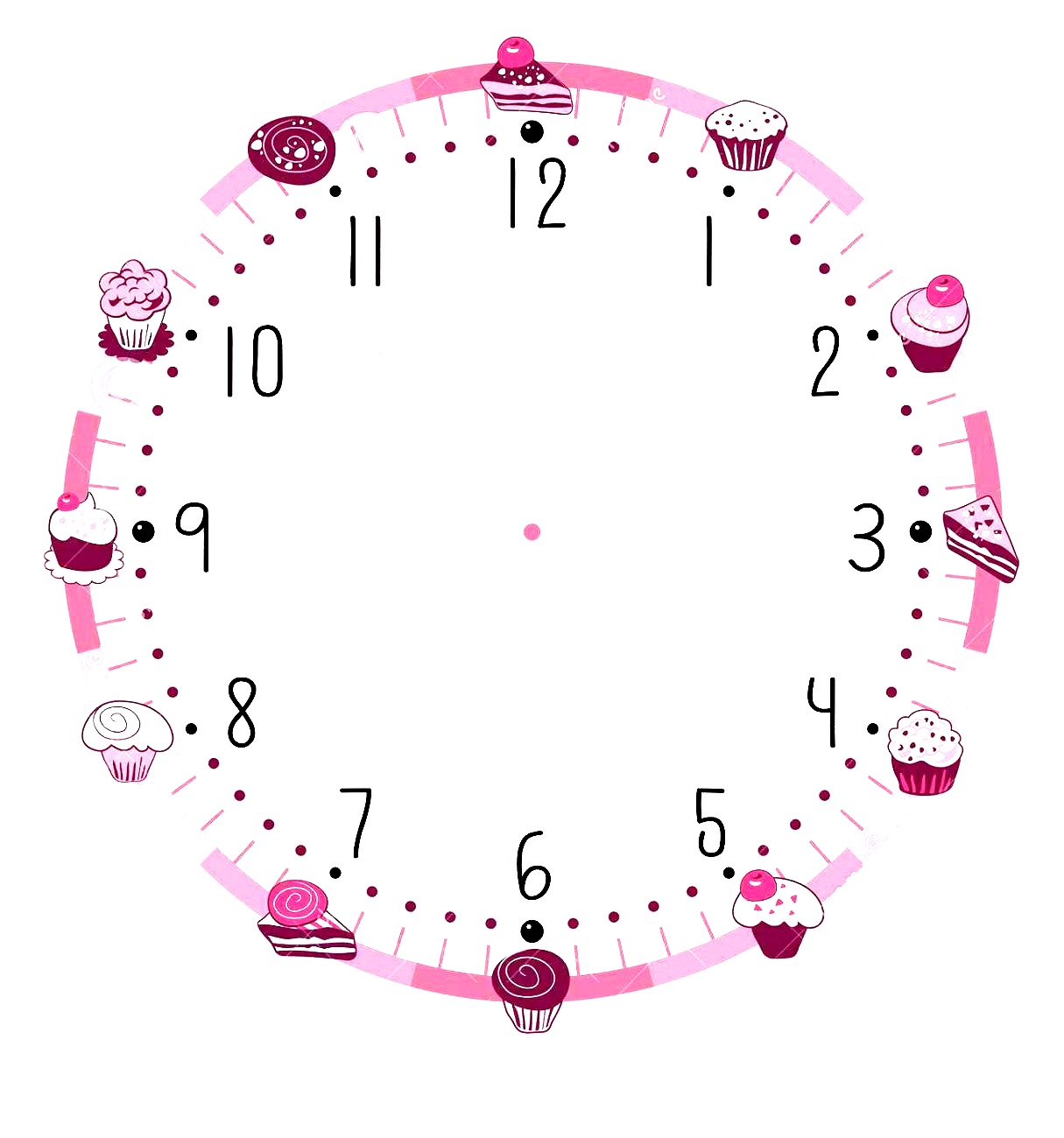 Blank Clock Template Printable