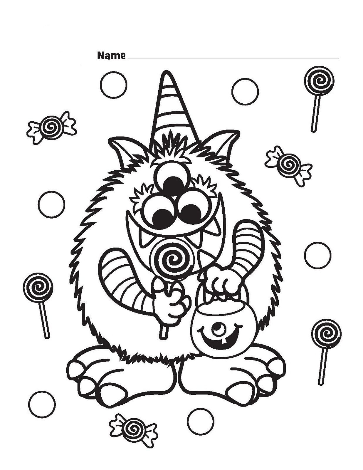 Candyland Coloring Pages For Kids