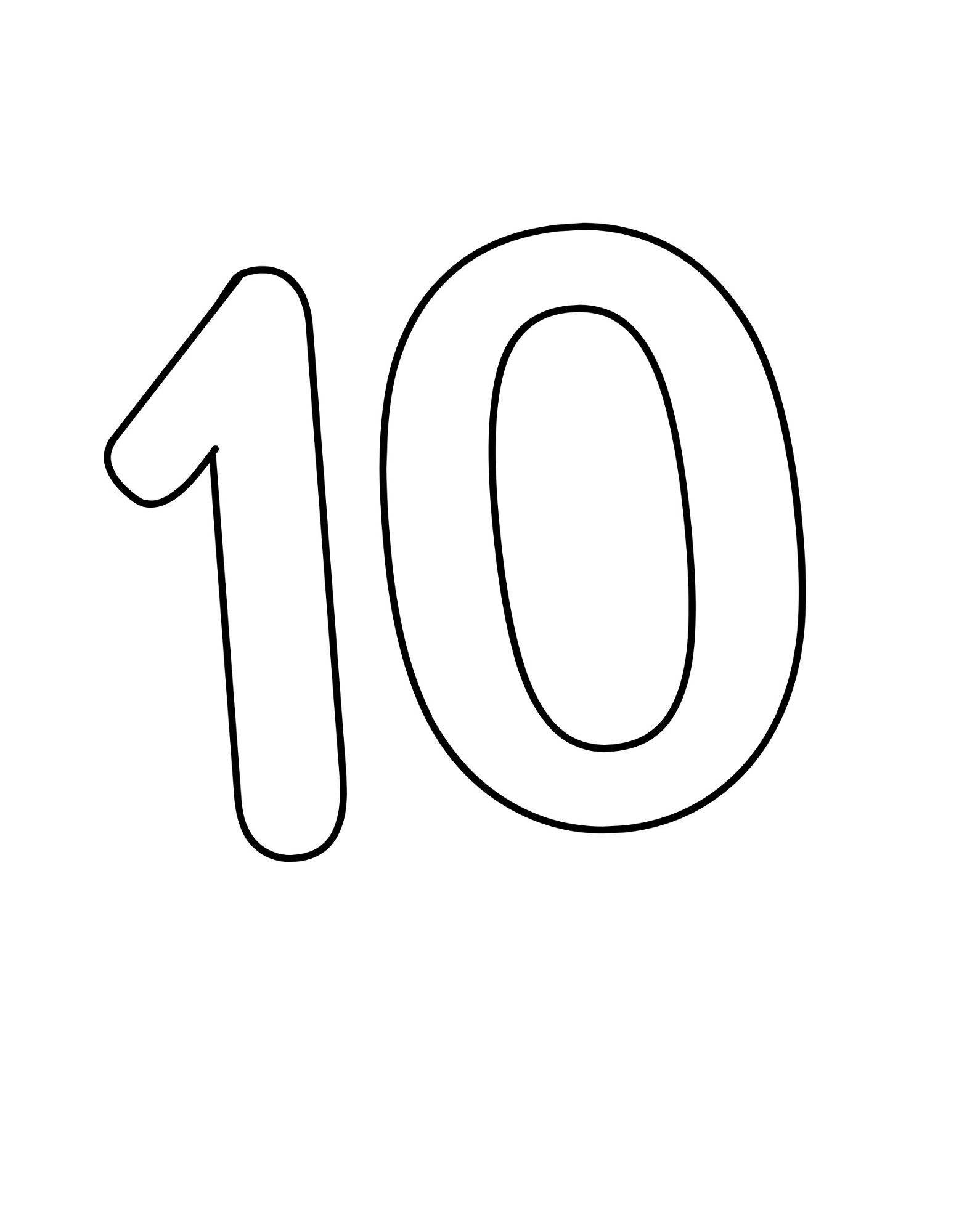 Picture Of Number 10 For Children