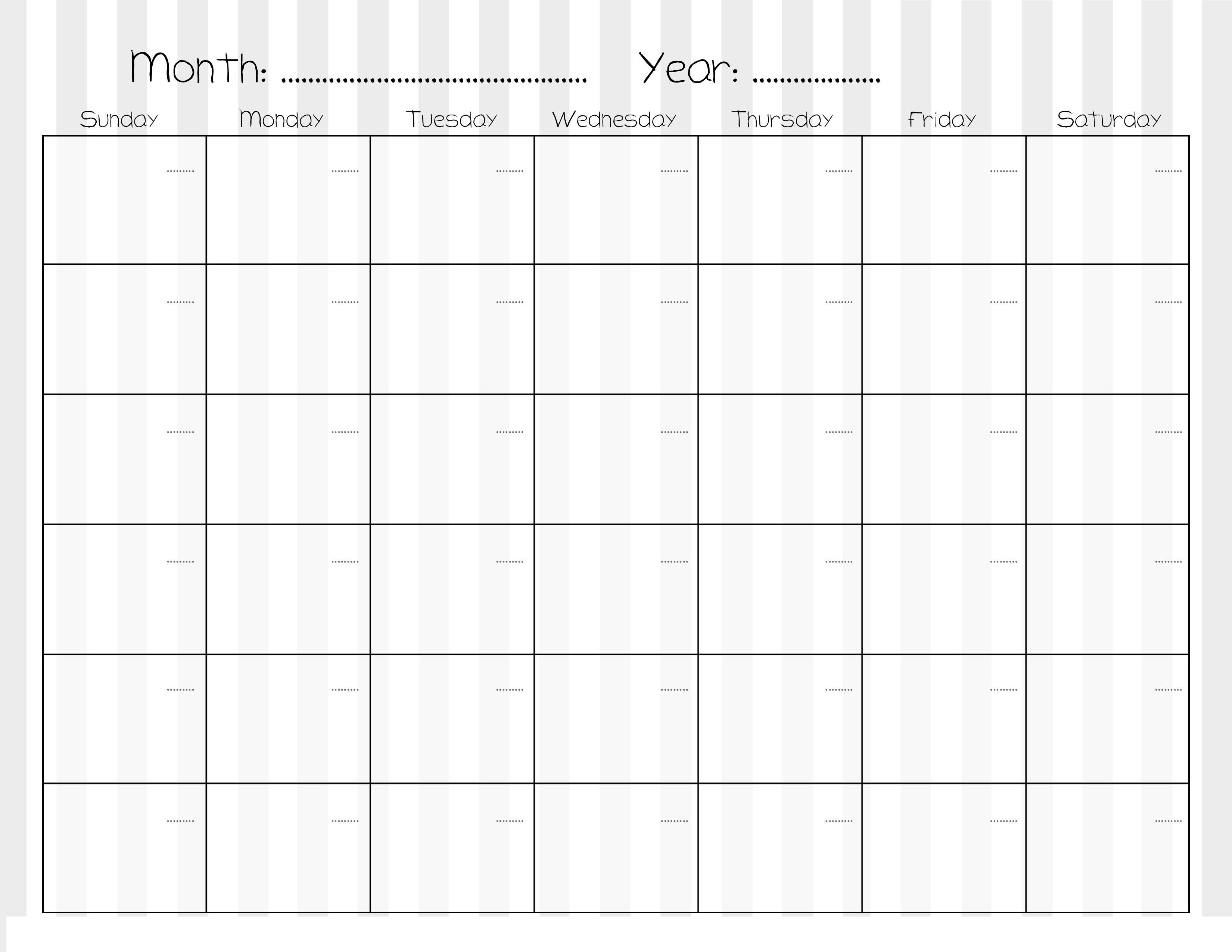 Sample Calendars To Print