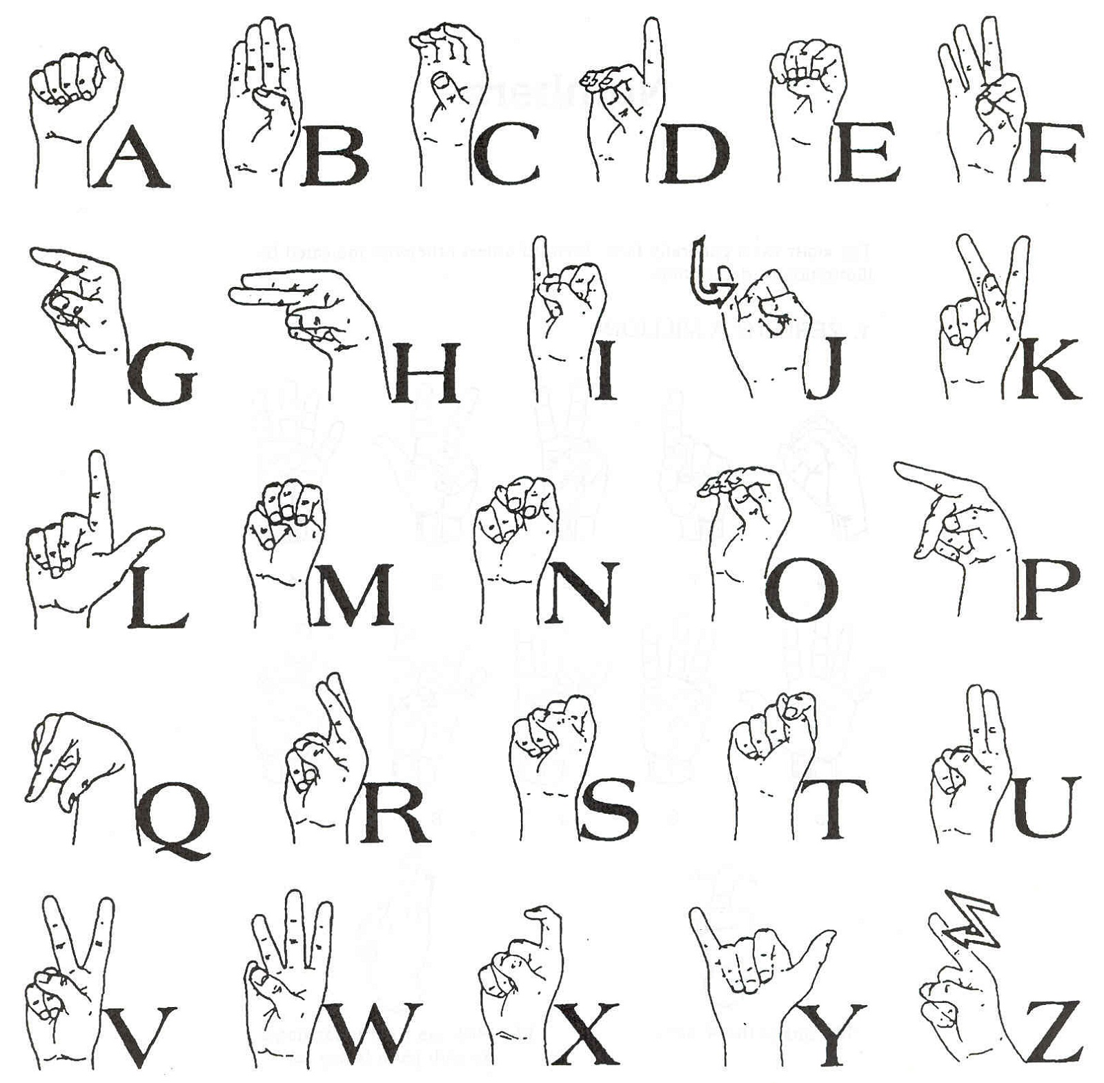 Sign Language Images Printable