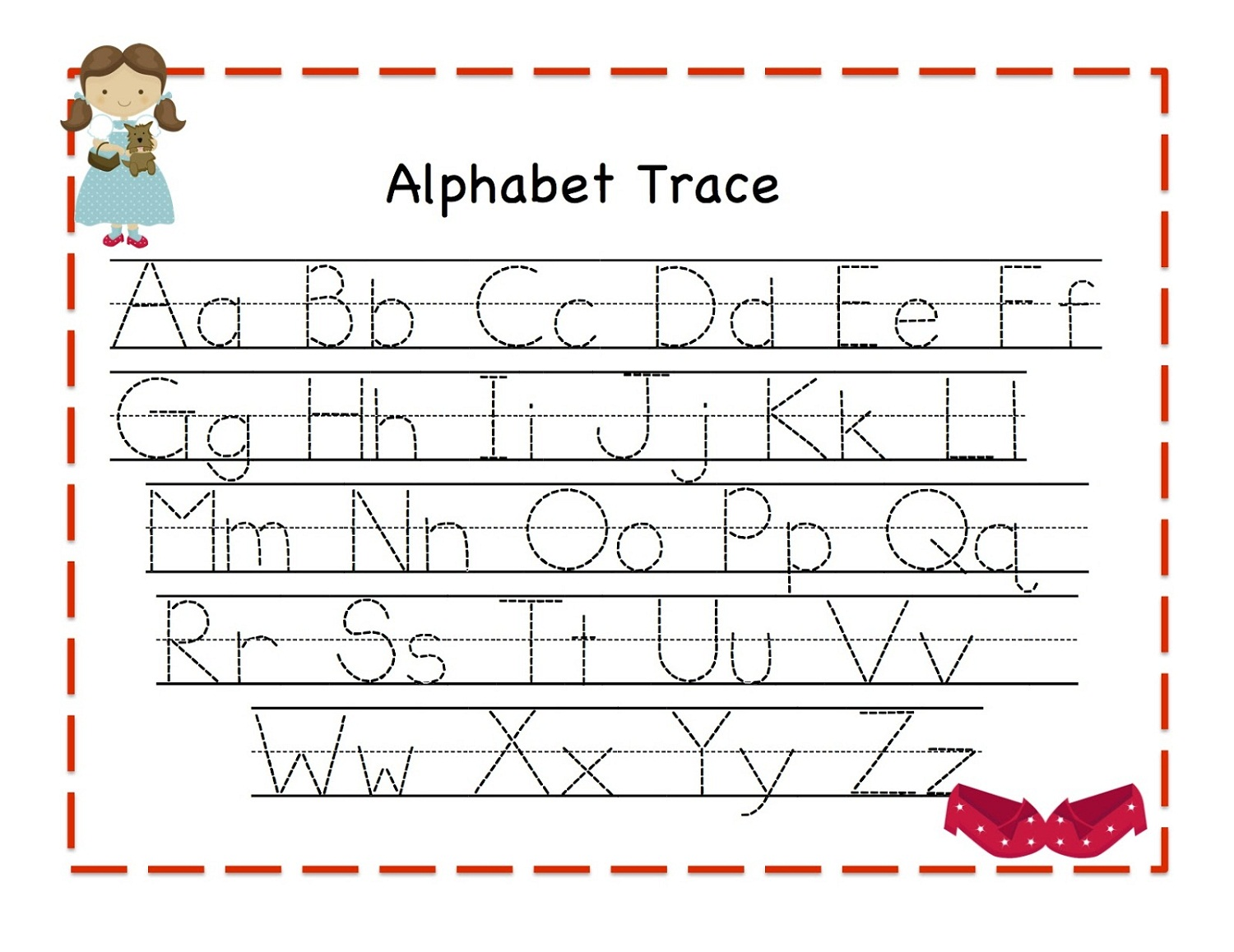 Trace Alphabet Letters For Children