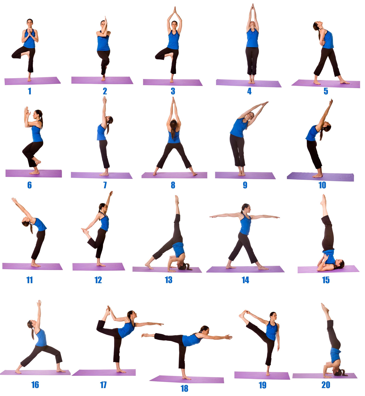Asanas Yoga Printable