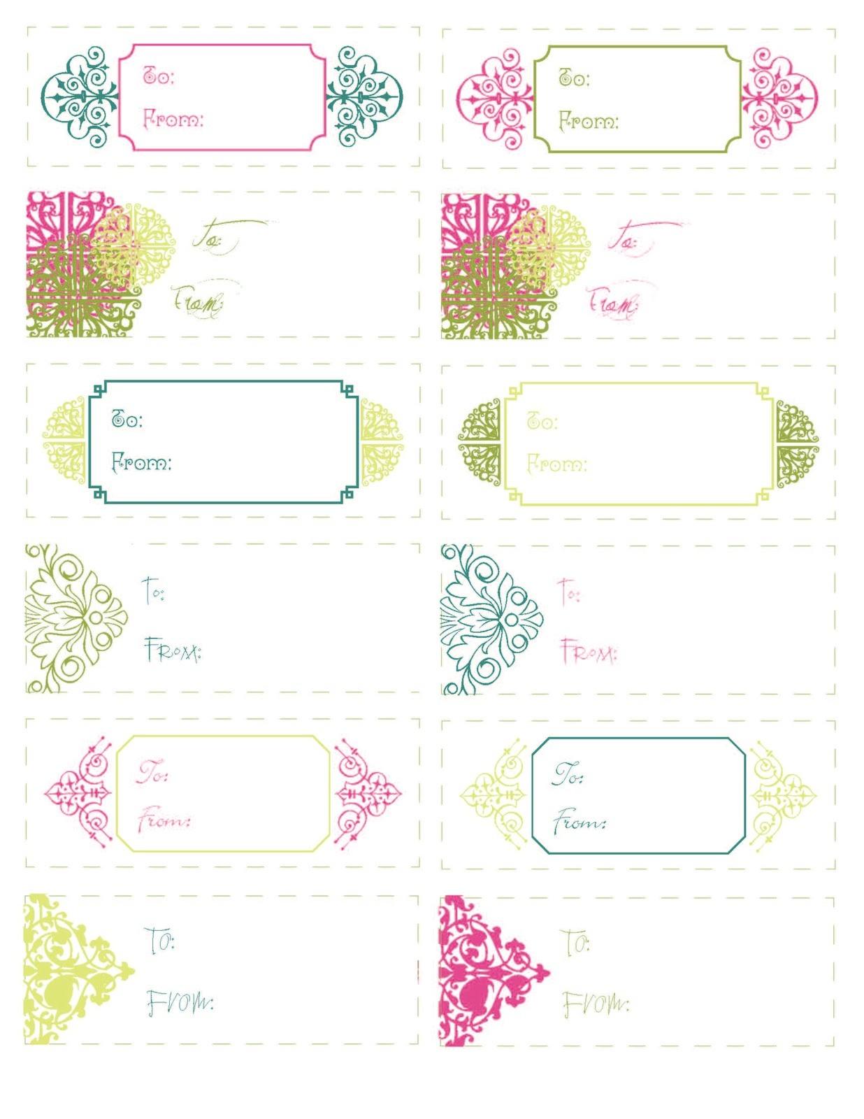 Free Printable T Tags