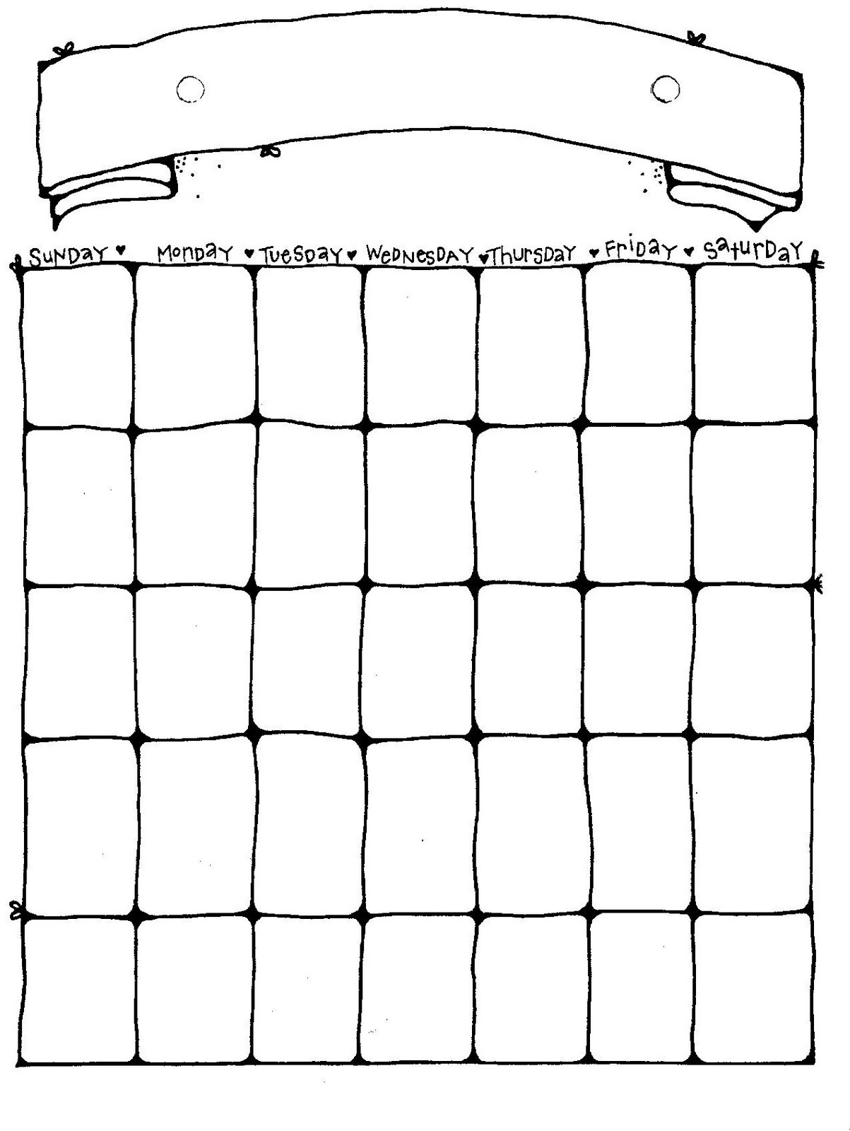 Calendar for more than one month can be generated as single pdf. Printable Blank Calendar Pages   Activity Shelter