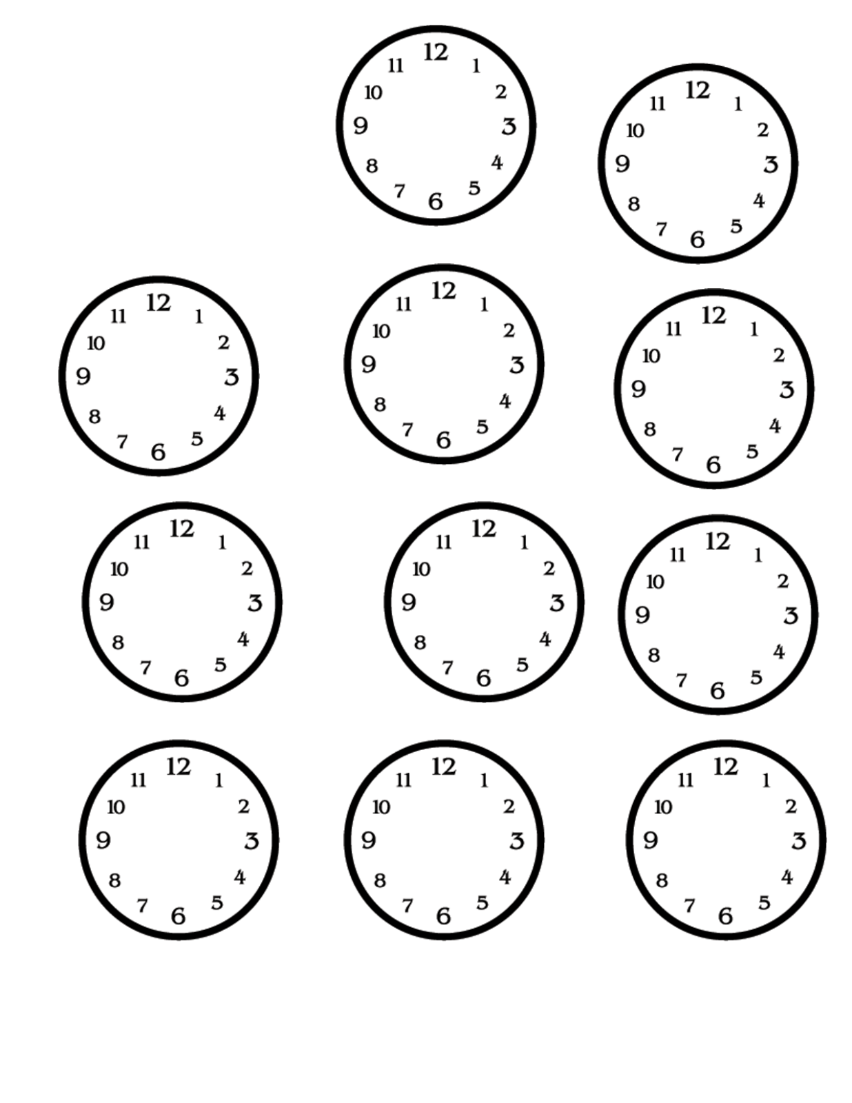 Blank Clock Faces Printable
