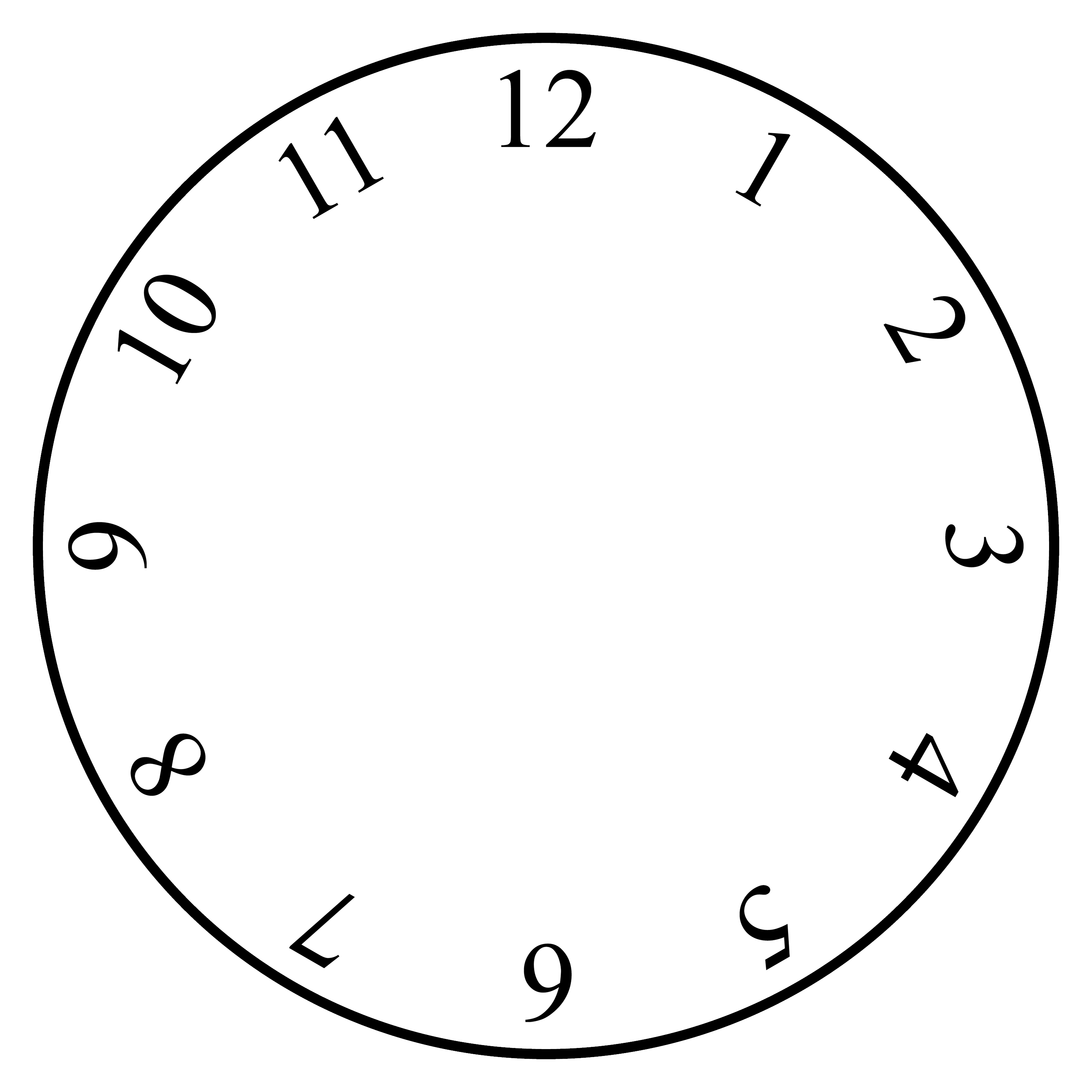 Free And Printable Clock Faces Templates