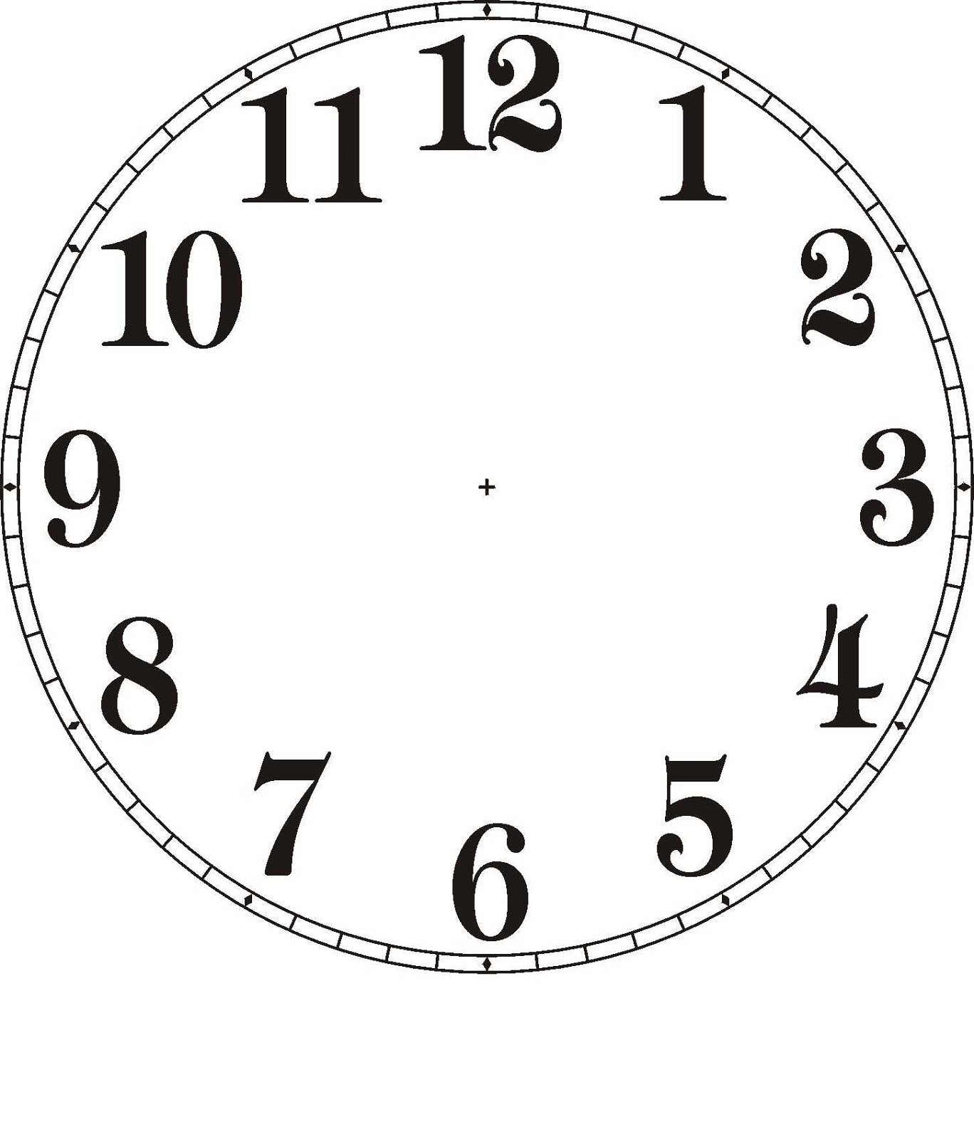 Free Clock Faces Templates