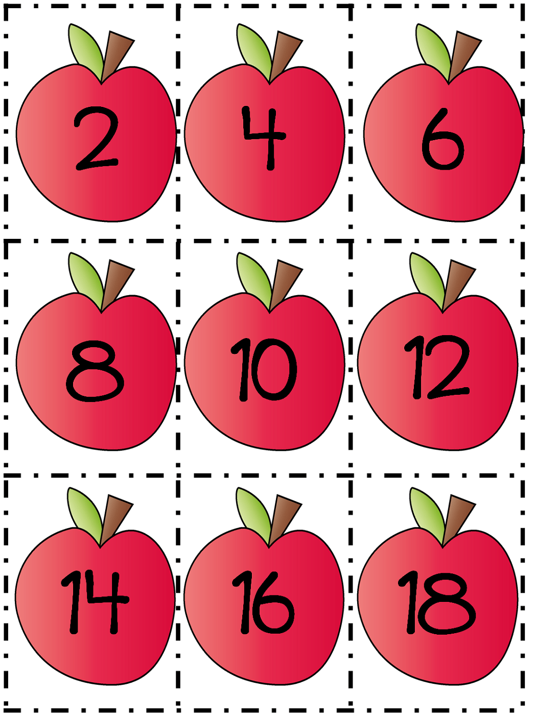 Count By 2s Worksheet Apples Activity Shelter