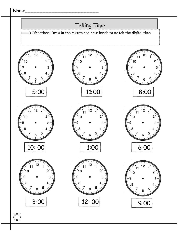 Easy Elapsed Time Worksheets