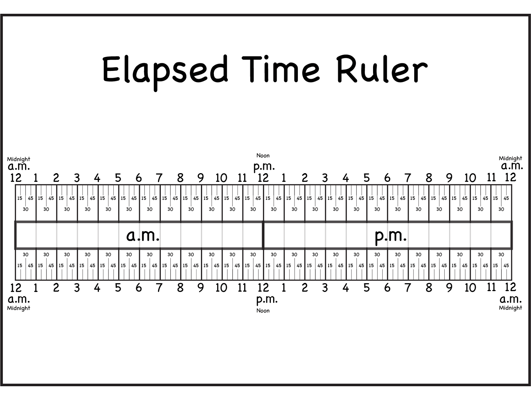 Printable Elapsed Time Rulers