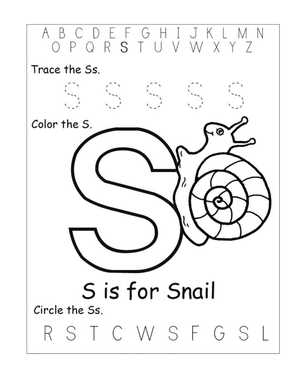 Large Worksheet For Preschoolers