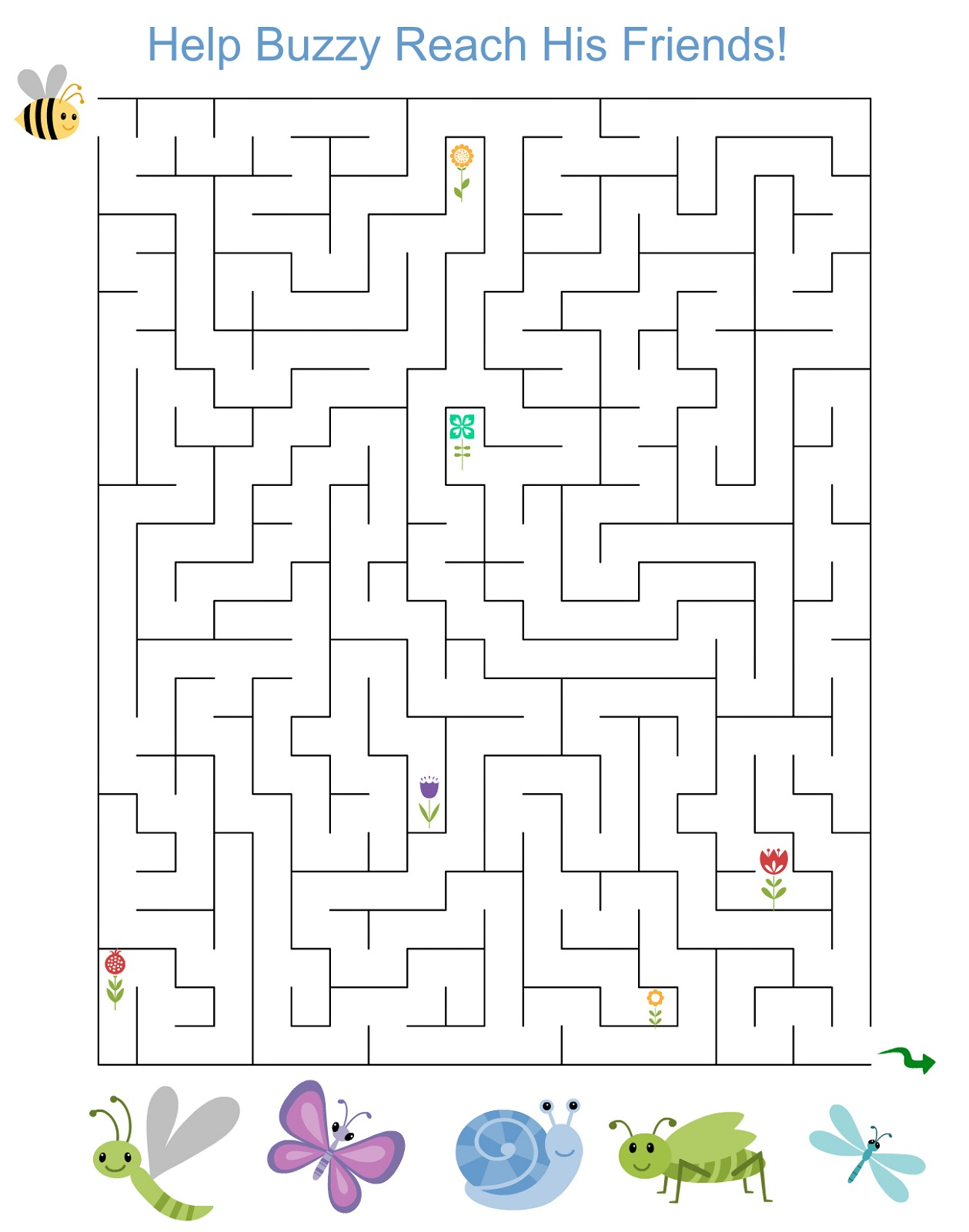 Free Maze Worksheets For Children