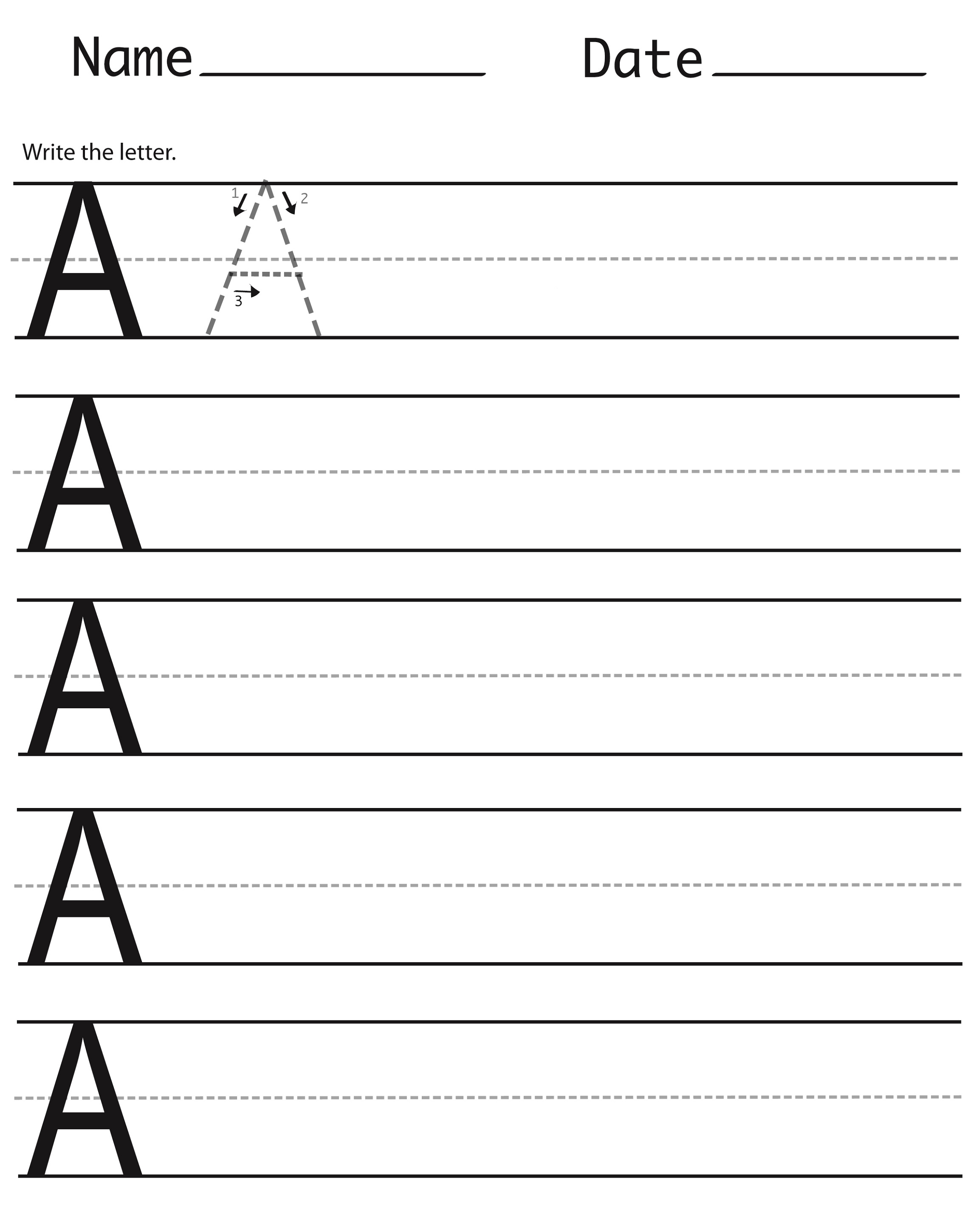 Best Printable Handwriting Sheets