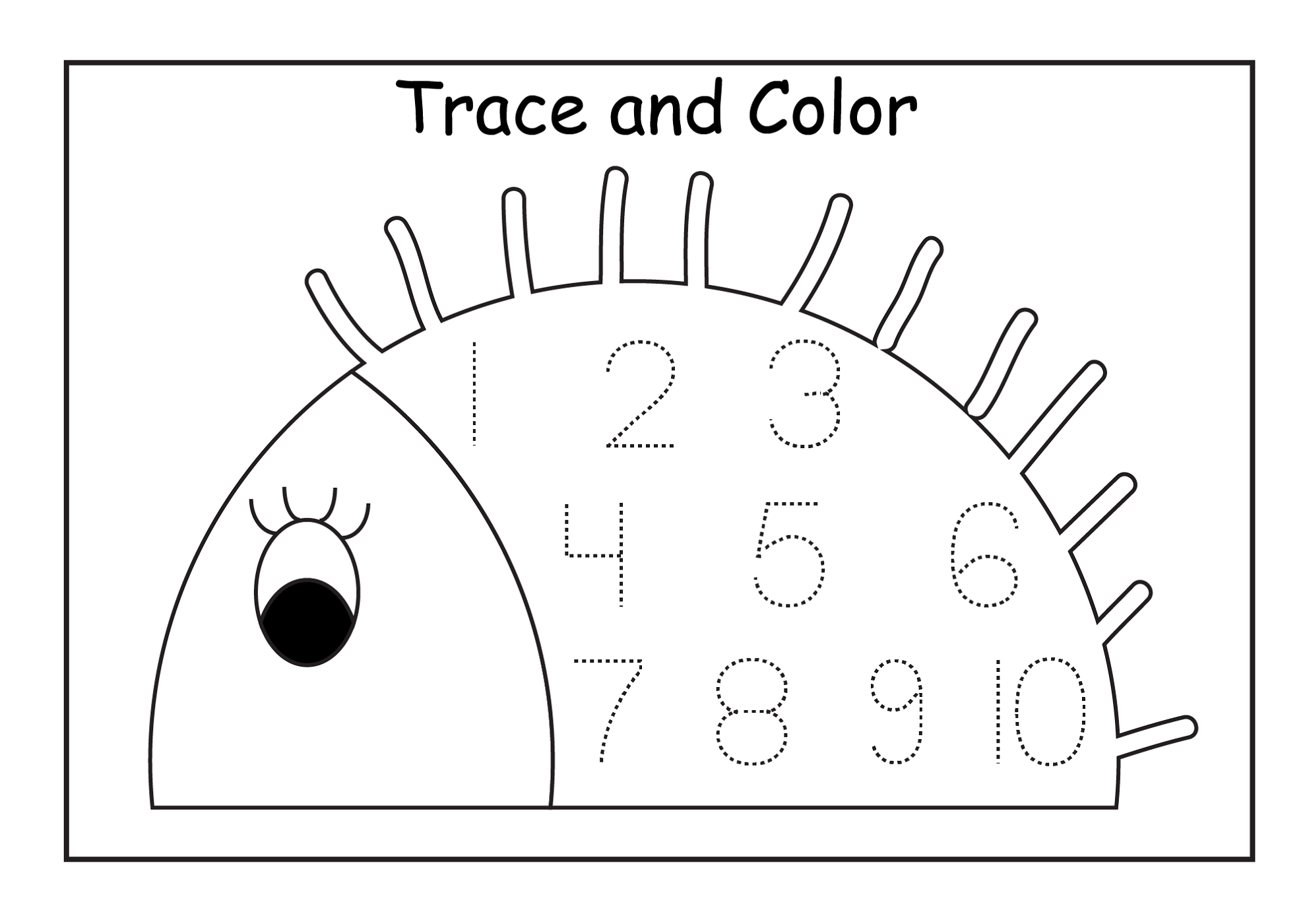 Tracing Numbers Worksheets 1 10