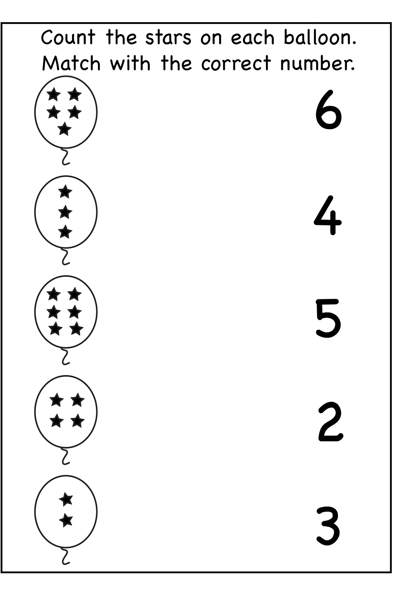 Number 7 Worksheet For Pre K