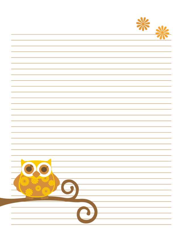 Persnickety image for cute printable notebook paper