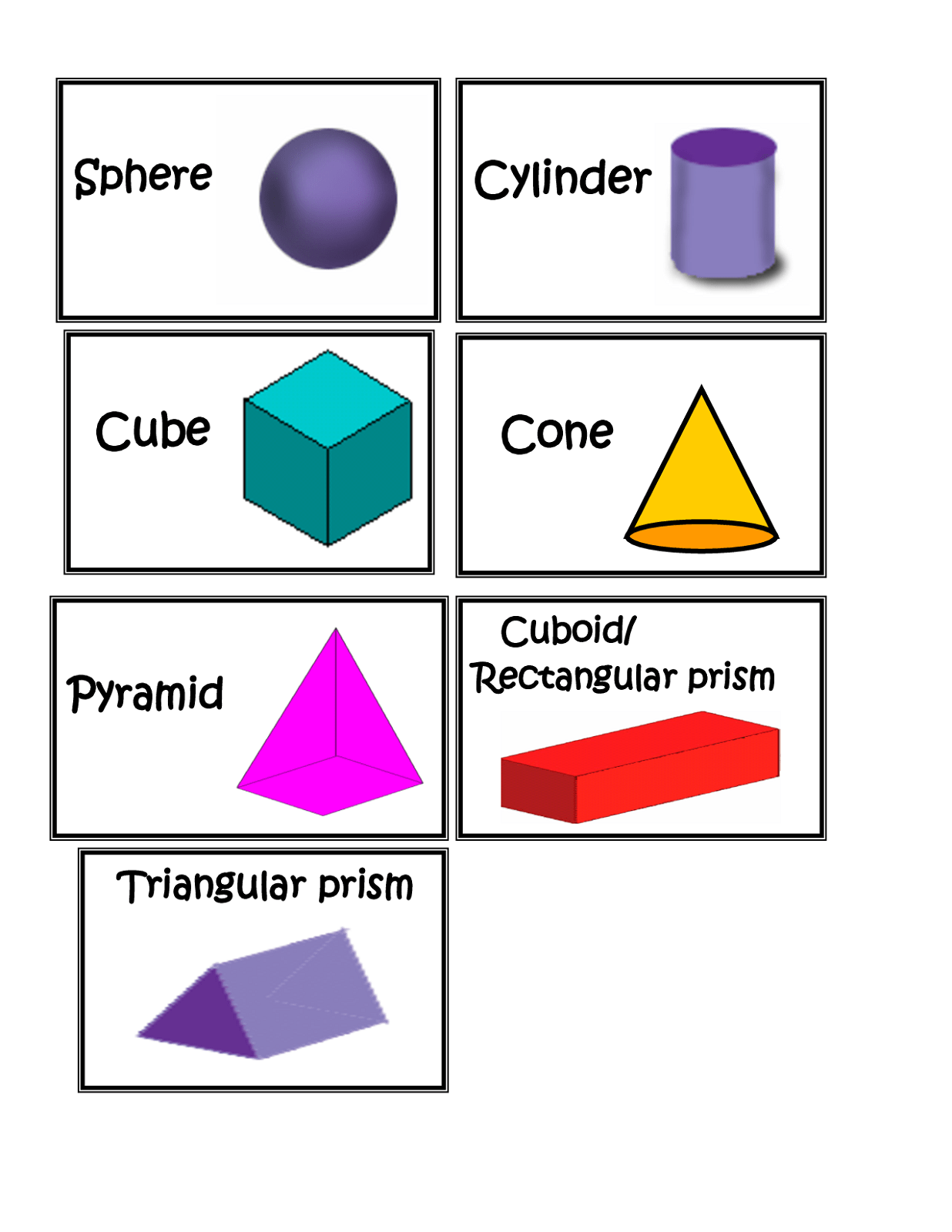 Search Results For Worksheets 3d Shapes Printable