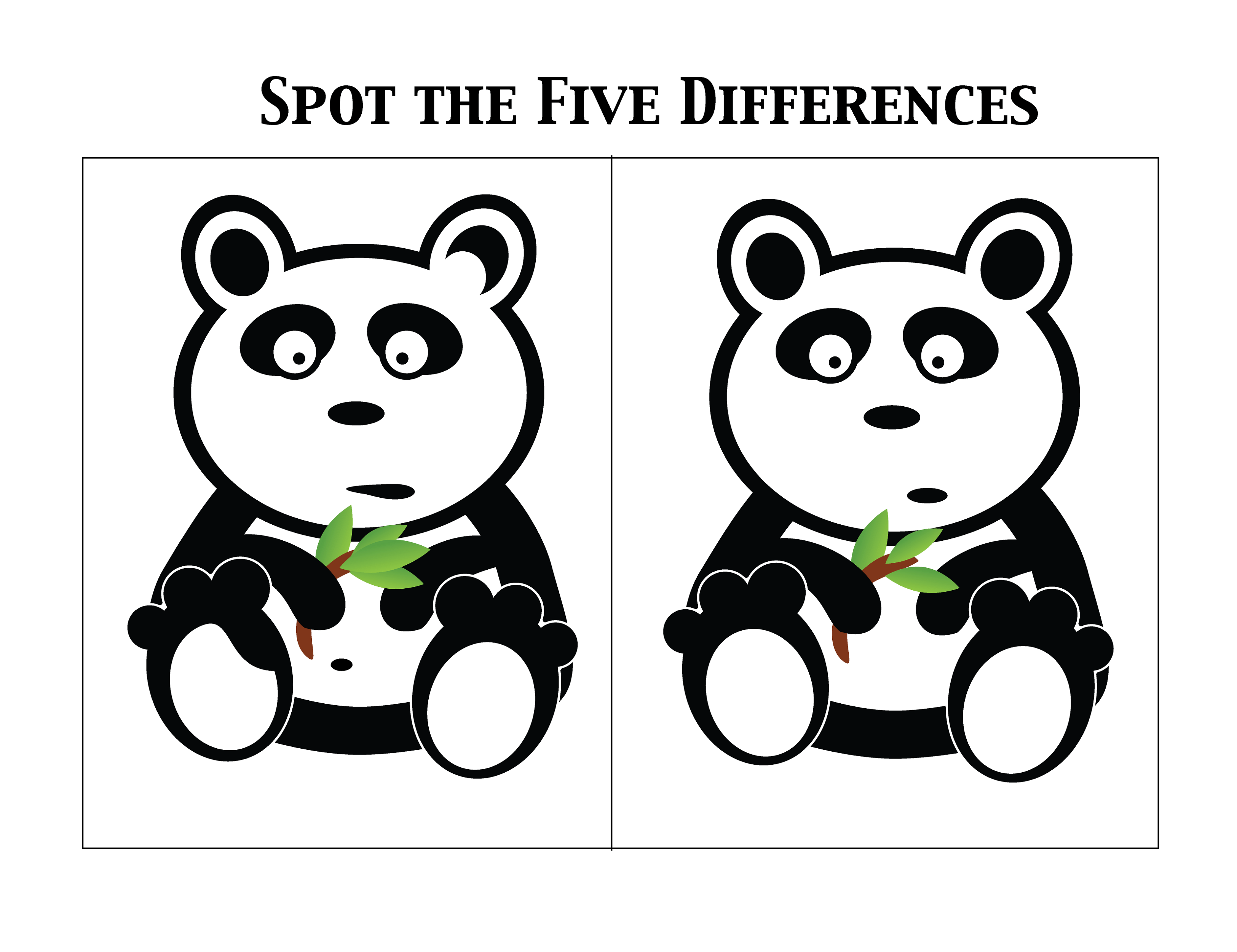 Spot The Difference Worksheets