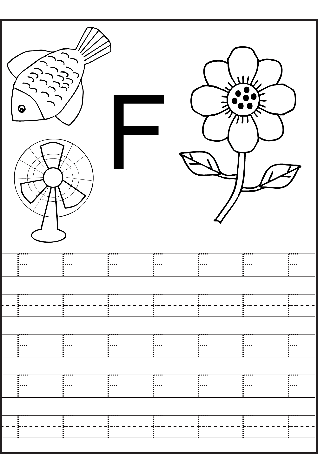 Trace The Letters Worksheets