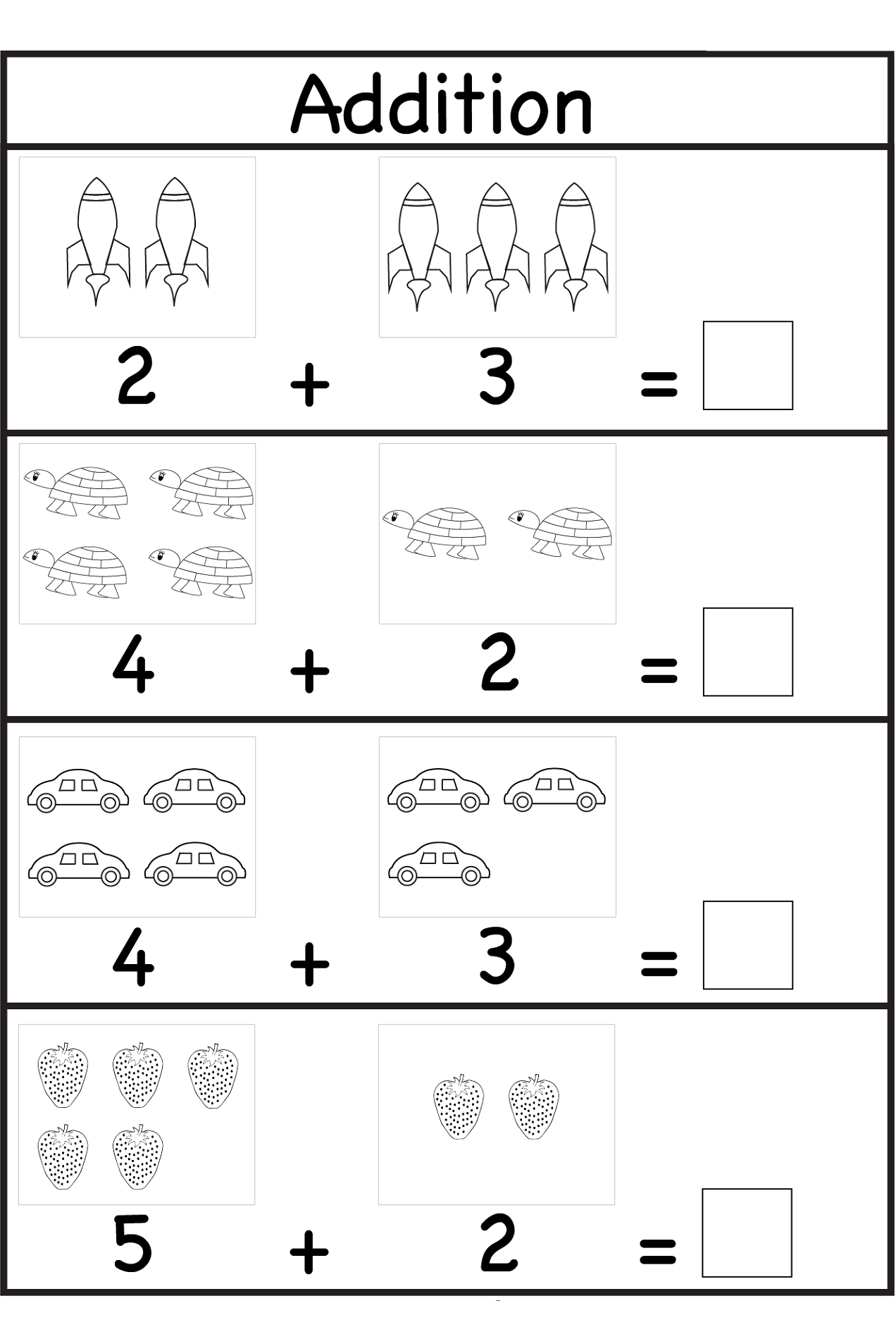 4 Year Old Math Worksheets