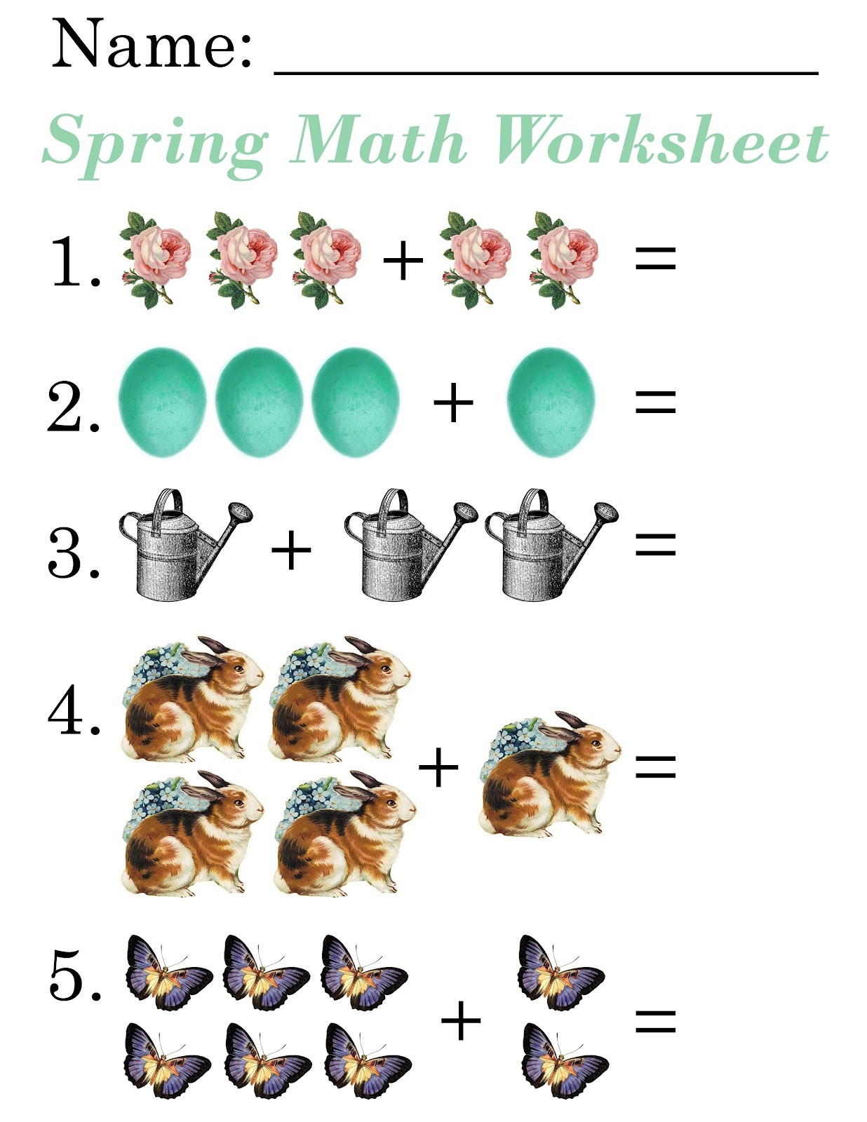 Fun Worksheets For 5 Year Olds