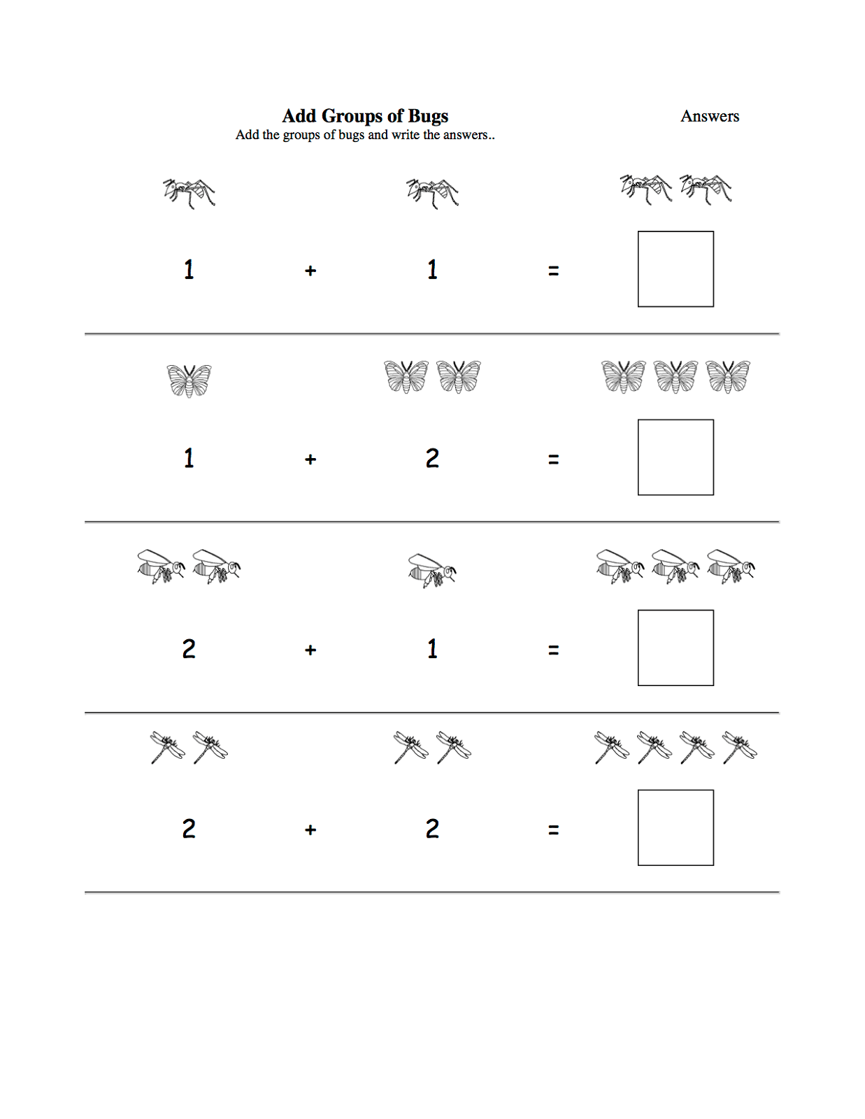 Worksheets For 3 Year Olds Addition Activity Shelter