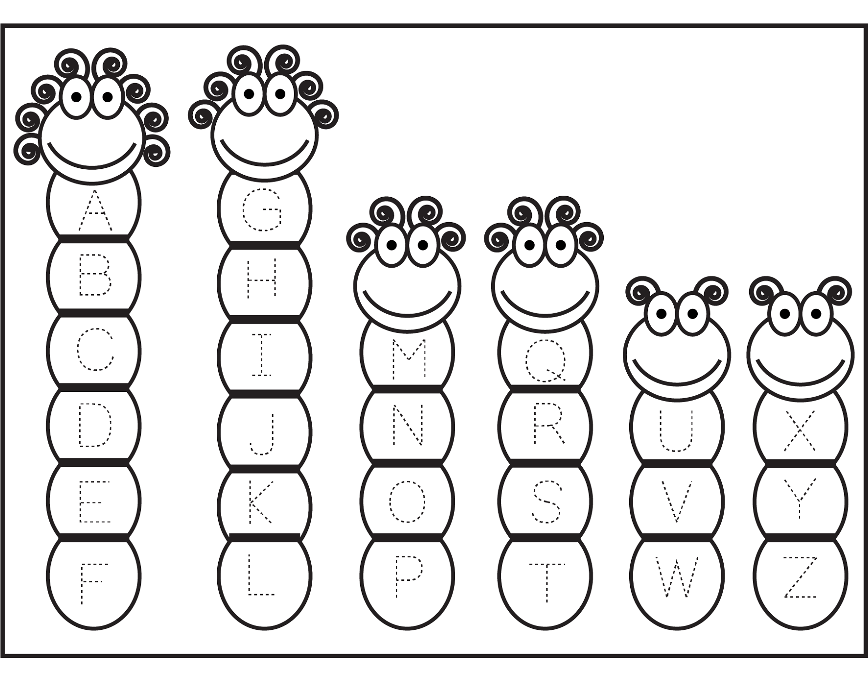 Printable Abc Traceable Worksheets