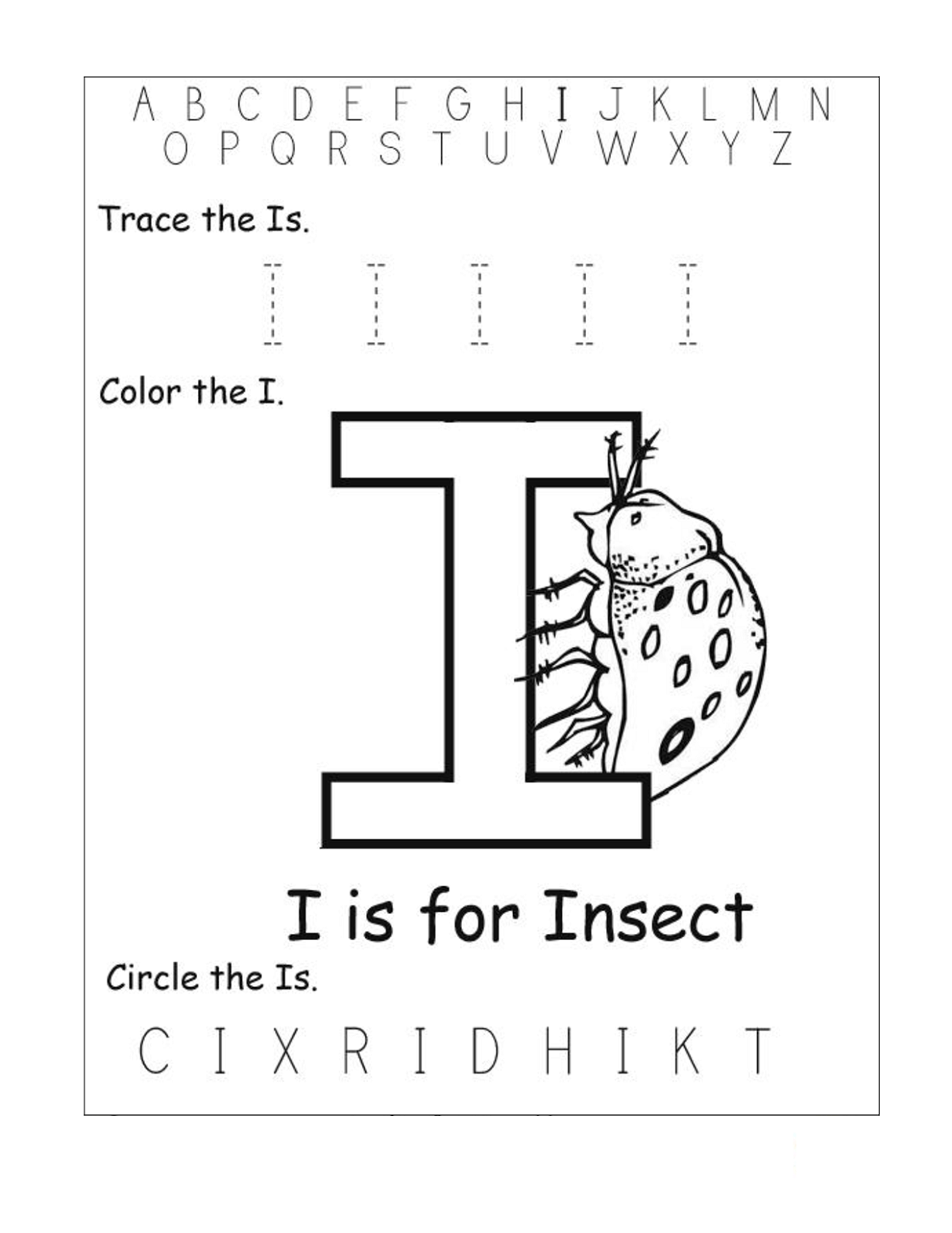 Worksheet Kindergarten I Have